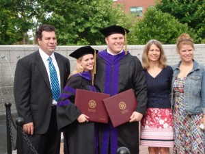 The Duncan Family after the Elon Law graduation.